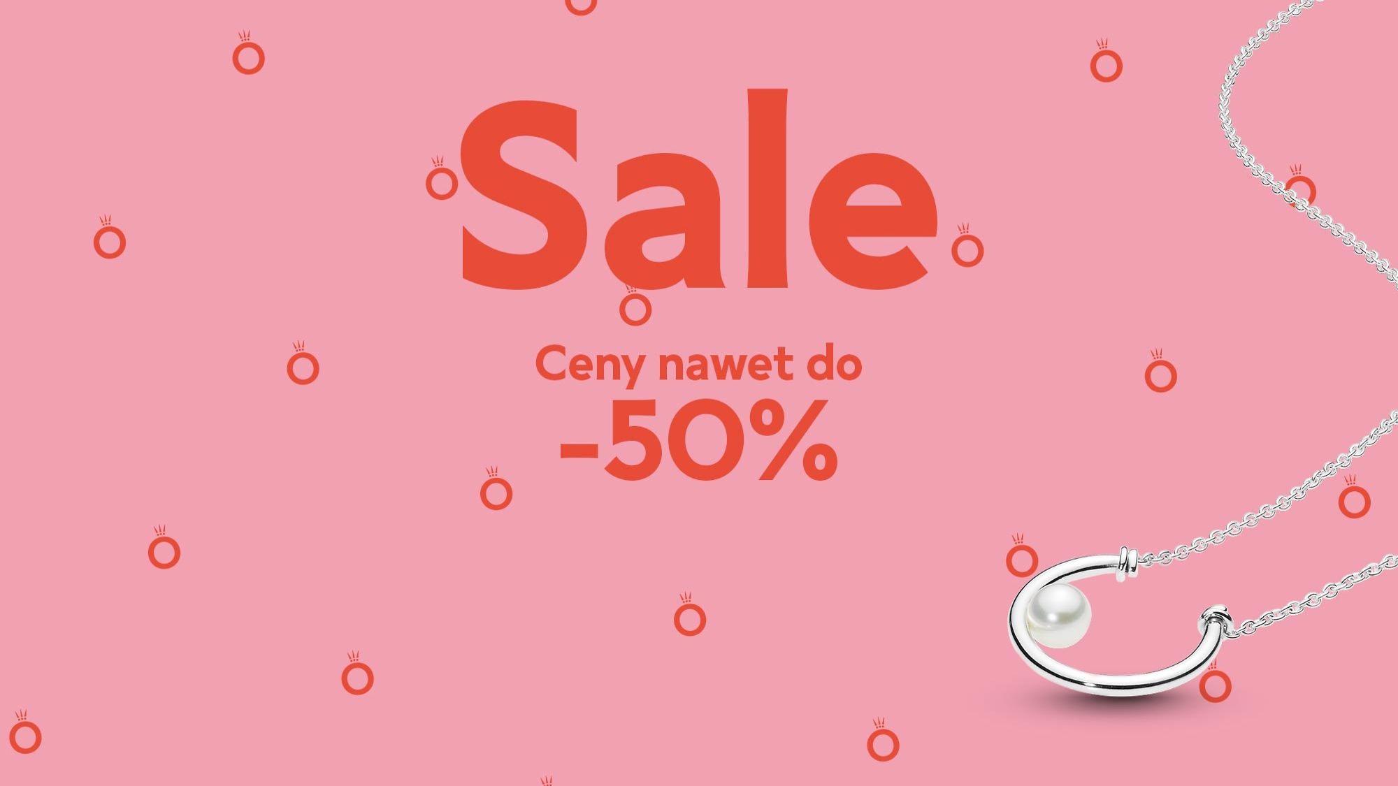 Pandora: wyprzedaż do 50% zniżki na biżuterię m.in. bransoletki, naszyjniki, pierścionki                         title=