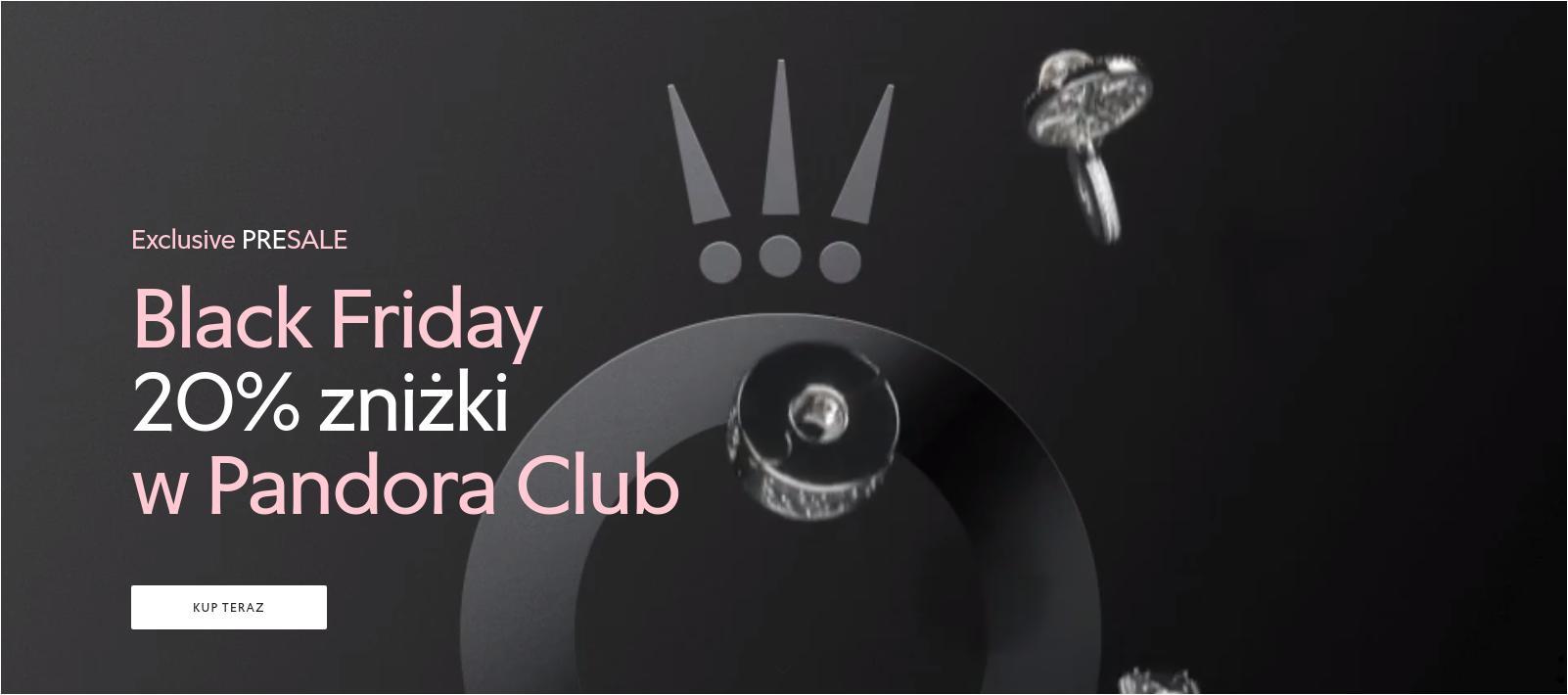Pandora: Black Friday 20% rabatu na wyjątkową i inspirującą biżuterię