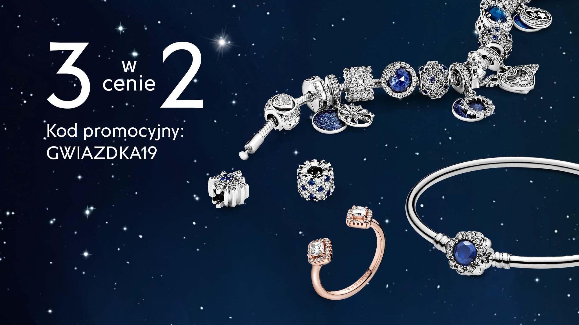 Pandora: 3 sztuki biżuterii w cenie 2