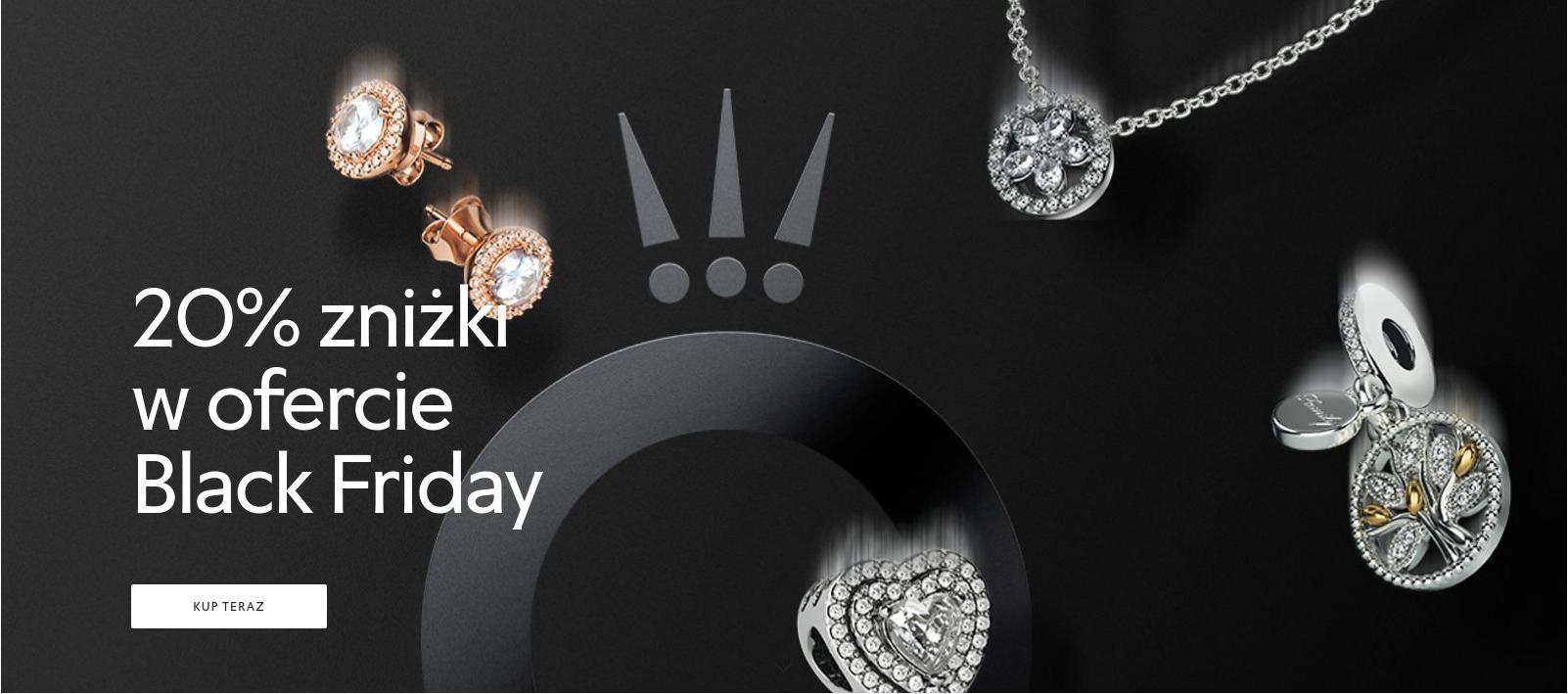 Pandora: Black Friday 20% zniżki na wyjątkową i inspirującą biżuterię