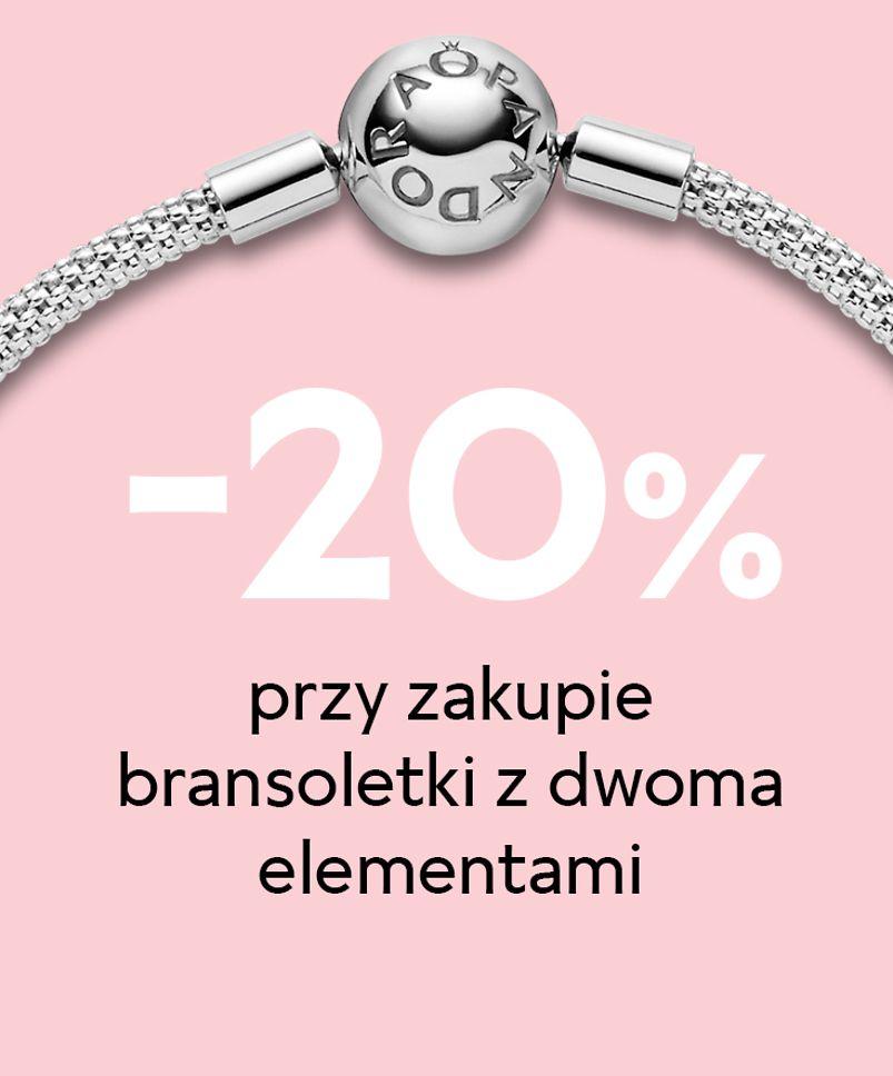 Pandora: 20% zniżki przy zakupie bransoletki Pandora Moments z dwoma elementami