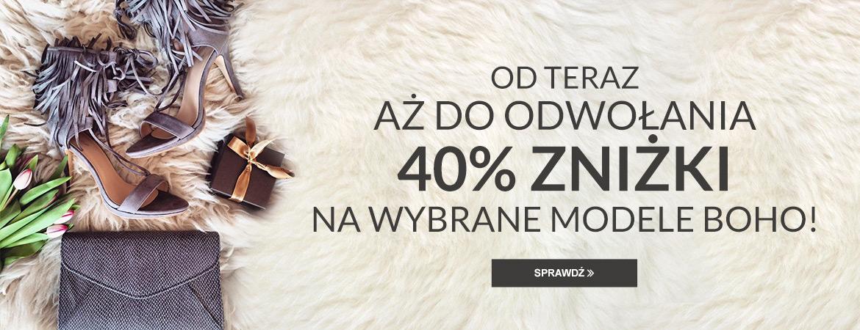 Pantofelek24: 40% zniżki na wybrane modele Boho