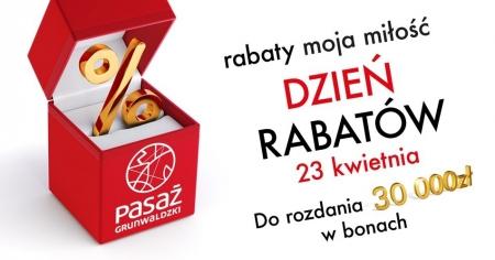 Dzień Rabatów we wrocławskim Pasażu Grunwaldzkim 23 kwietnia 2016