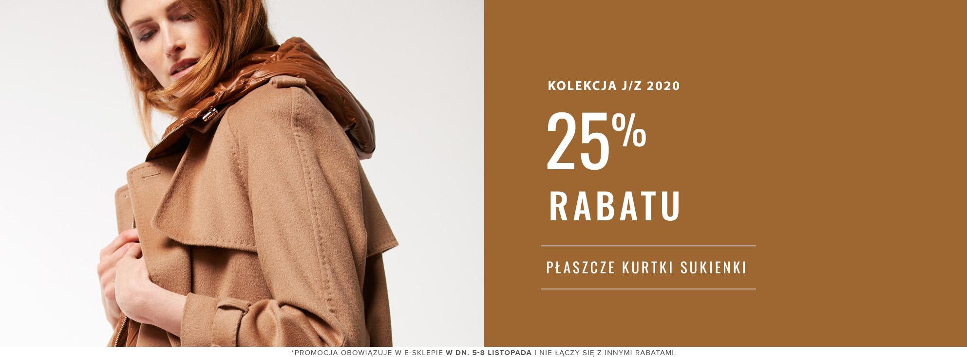 Patrizia Aryton Patrizia Aryton: 25% rabatu na płaszcze, kurtki i sukienki damskie