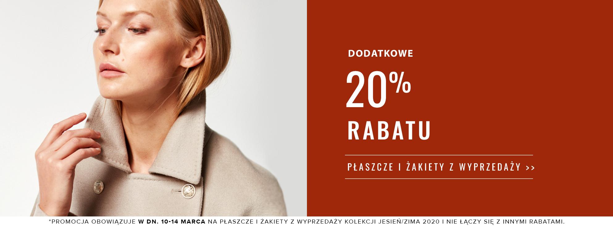 Patrizia Aryton: dodatkowe 20% rabatu na płaszcze i żakiety damskie z wyprzedaży