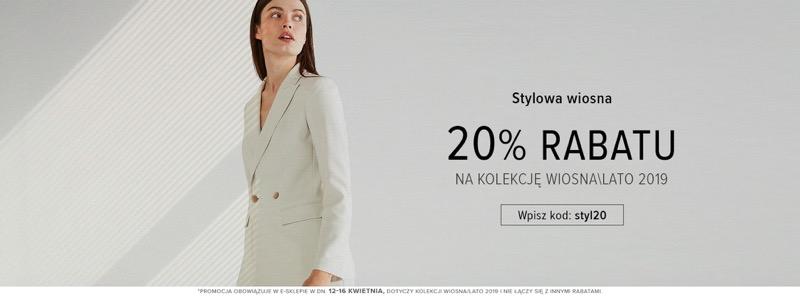 Patrizia Aryton: Stylowe Zakupy 20% zniżki na odzież damską z kolekcji wiosna-lato