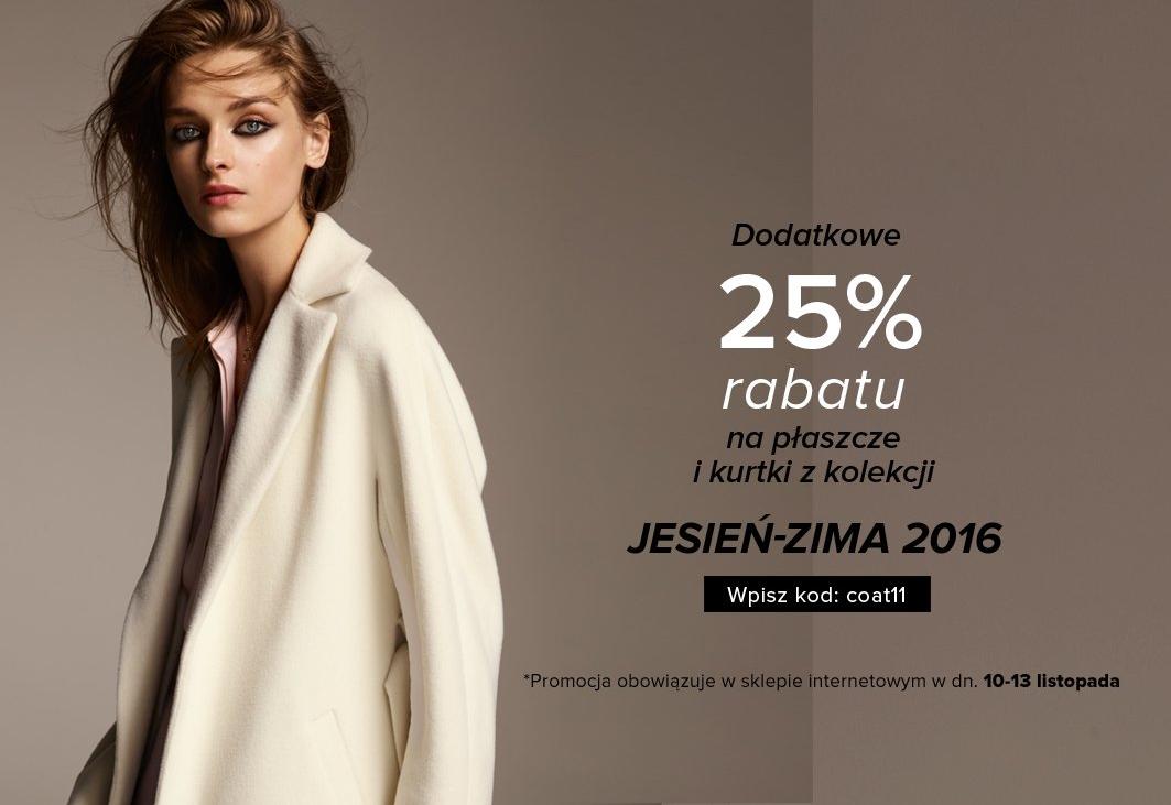 Patrizia Aryton: dodatkowe 25% zniżki na płaszcze i kurtki z kolekcji jesień-zima 2016