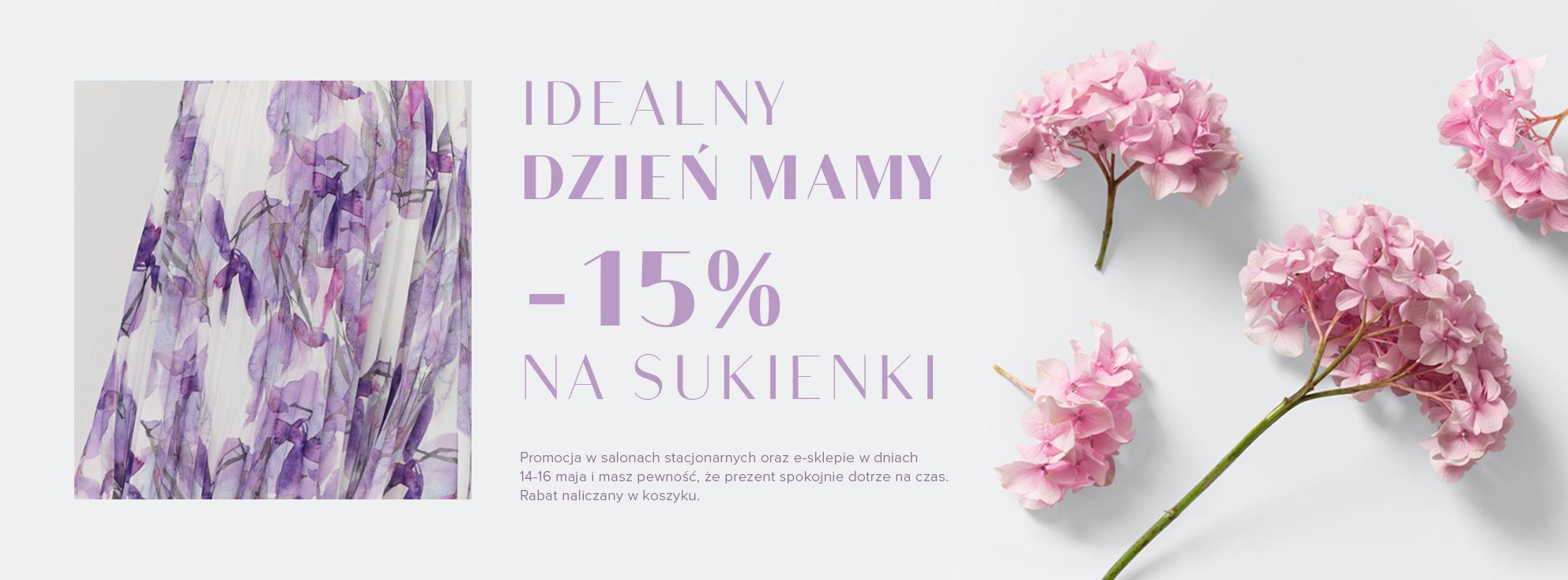 Patrizia Aryton: 15% rabatu na sukienki - promocja na Dzień Mamy