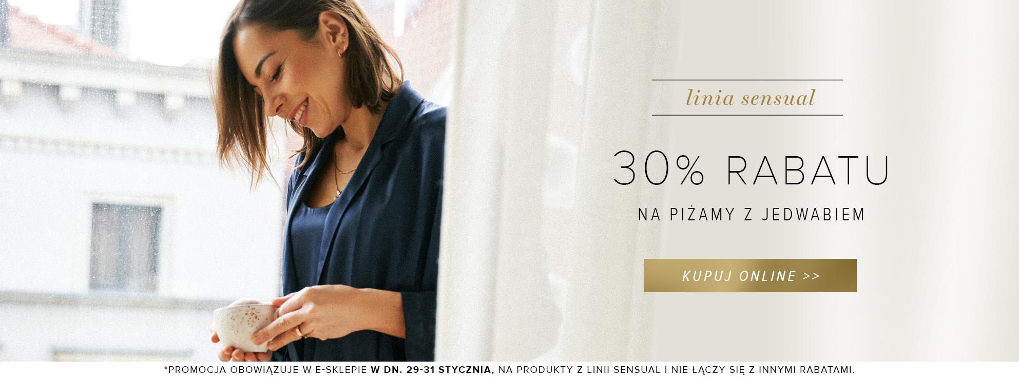 Patrizia Aryton: 30% rabatu na piżamy z jedwabiem