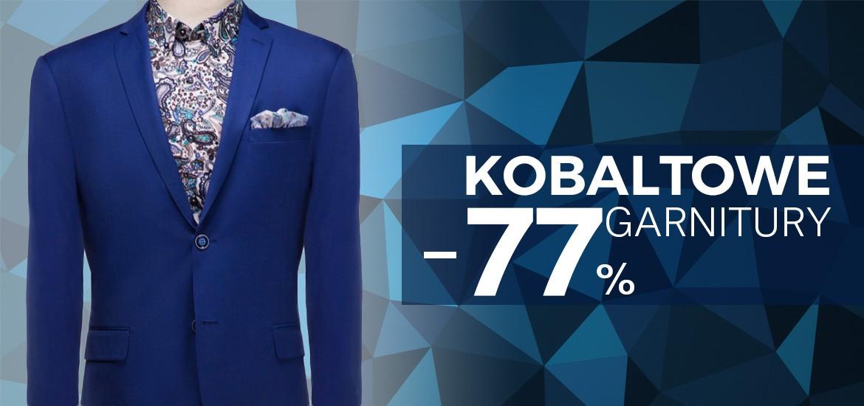 75f0259034862 Pawo: 77% rabatu na kobaltowe garnitury