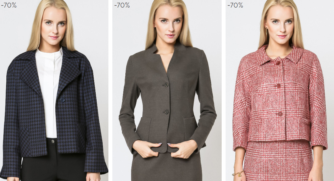 Deni Cler Milano: wyprzedaż nawet do 70% zniżki na odzież damską oraz dodatki                         title=