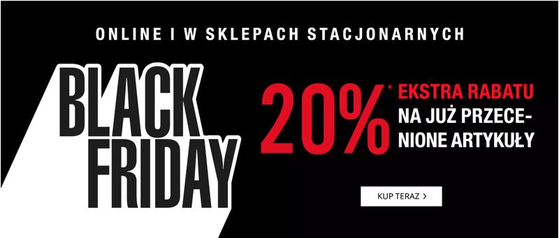Peek & Cloppenburg: Black Friday extra 20% rabatu na przecenioną odzież damską, męską i dziecięcą