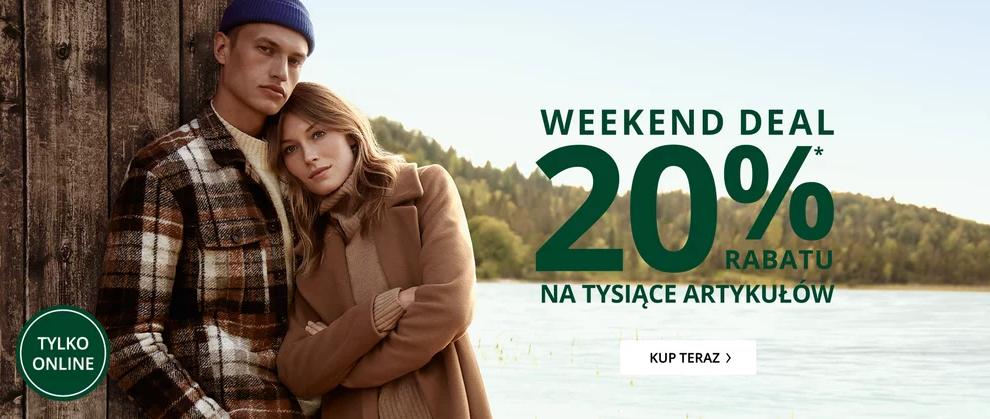 Peek & Cloppenburg: 20% zniżki na tysiące artykułów znanych marek - weekend deal                         title=