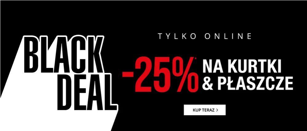 Peek & Cloppenburg: Black Deal 25% rabatu na kurtki i płaszcze damskie, męskie oraz dziecięce