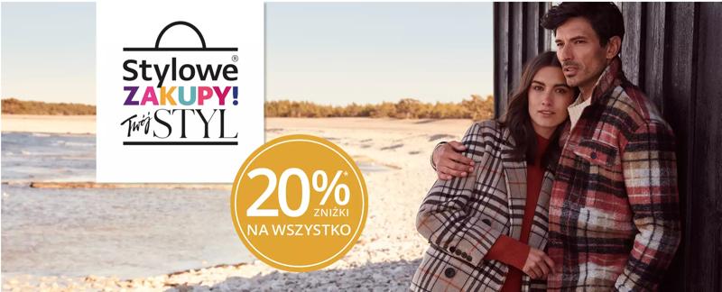 Peek & Cloppenburg: Stylowe Zakupy 20% zniżki na odzież damską, męską i dziecięcą