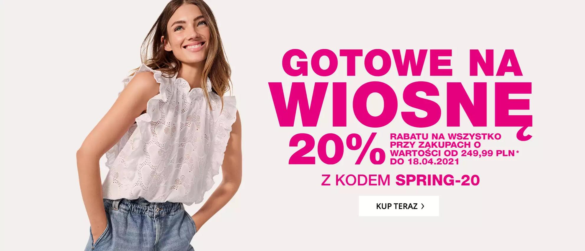 Peek & Cloppenburg Peek & Cloppenburg: 20% zniżki na odzież damską, męską i dziecięcą