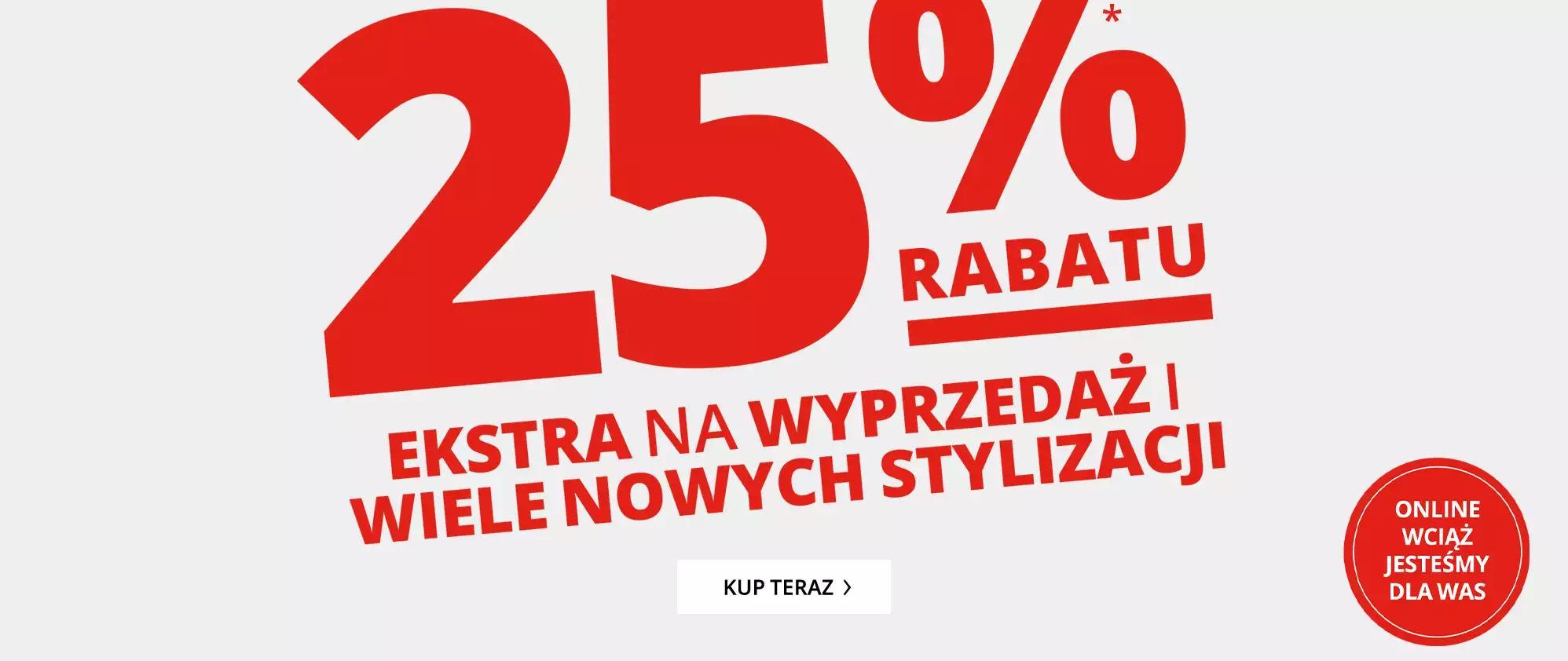 Peek & Cloppenburg: extra 25% rabatu na wyprzedaż odzieży damskiej, męskiej i dziecięcej
