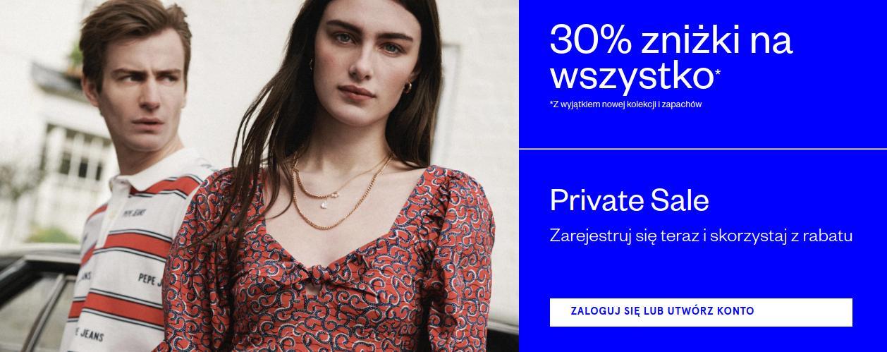 Pepe Jeans: wyprzedaż 30% zniżki na cały asortyment odzieży damskiej, męskiej oraz dziecięcej