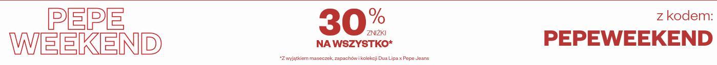 Pepe Jeans: 30% rabatu na odzież damską, męską i dziecięcą