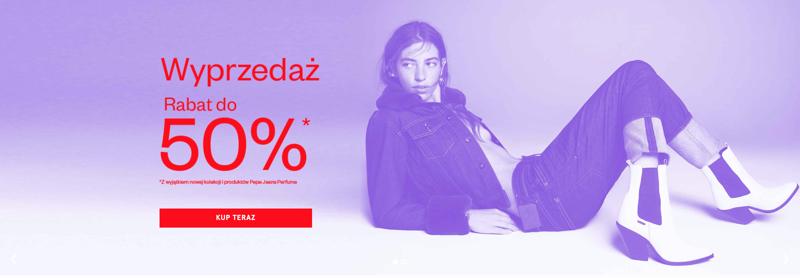 Pepe Jeans: wyprzedaż do 50% rabatu na cały asortyment odzieży jeansowej