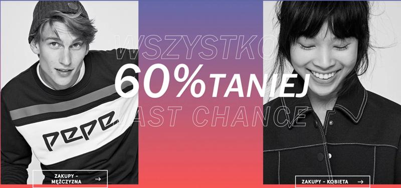 Pepe Jeans: 60% rabatu na wszystko