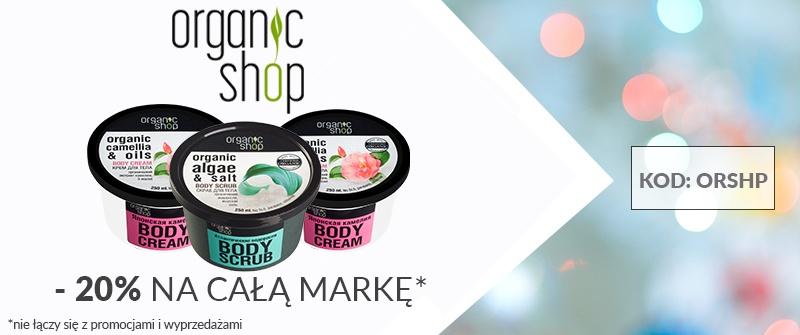 Perfumesco: 20% zniżki na kosmetyki marki organic shop