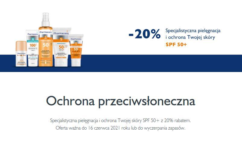 Pharmaceris: 20% zniżki na produkty do ochrony skóry przed słońcem SPF 50+