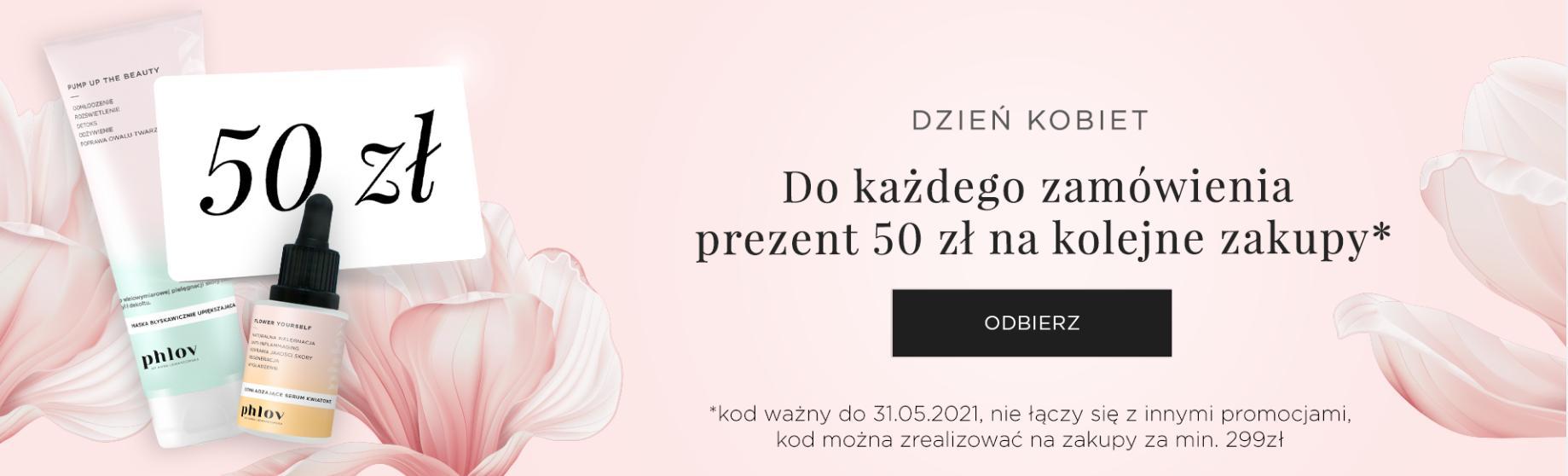PHLOV by Anna Lewandowska PHLOV by Anna Lewandowska: 50 zł rabatu na kolejne zakupy w prezencie na Dzień Kobiet