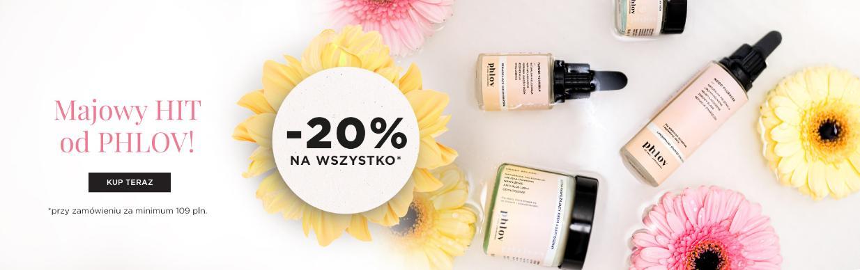 PHLOV by Anna Lewandowska: 20% zniżki na cały asortyment kosmetyków przy zakupach za min. 109 zł