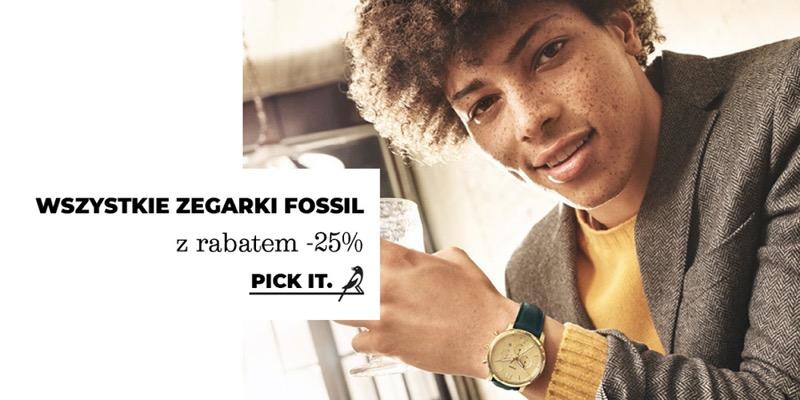 Picky Pica: 25% rabatu na wszystkie zegarki Fossil