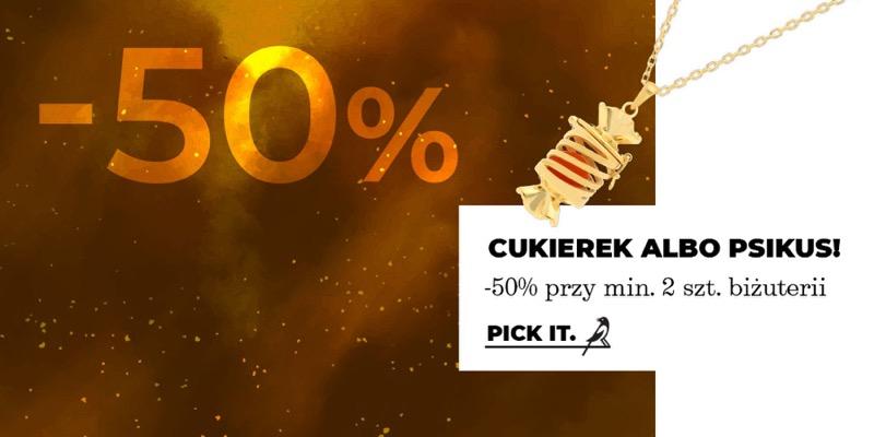 Picky Pica: z okazji Halloween 50% rabatu przy zakupie min. 2 sztuk biżuterii