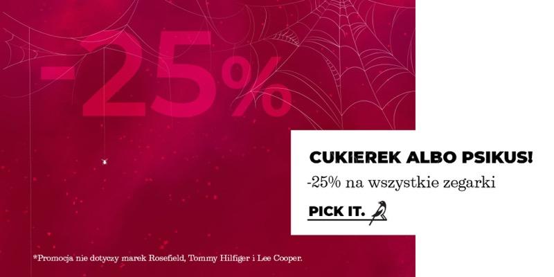 Picky Pica: z okazji Halloween 25% zniżki na wszystkie markowe zegarki damskie i męskie