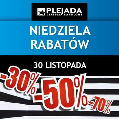 Niedziela Rabatów w centrum Plejada Sosnowiec 30 listopada 2014