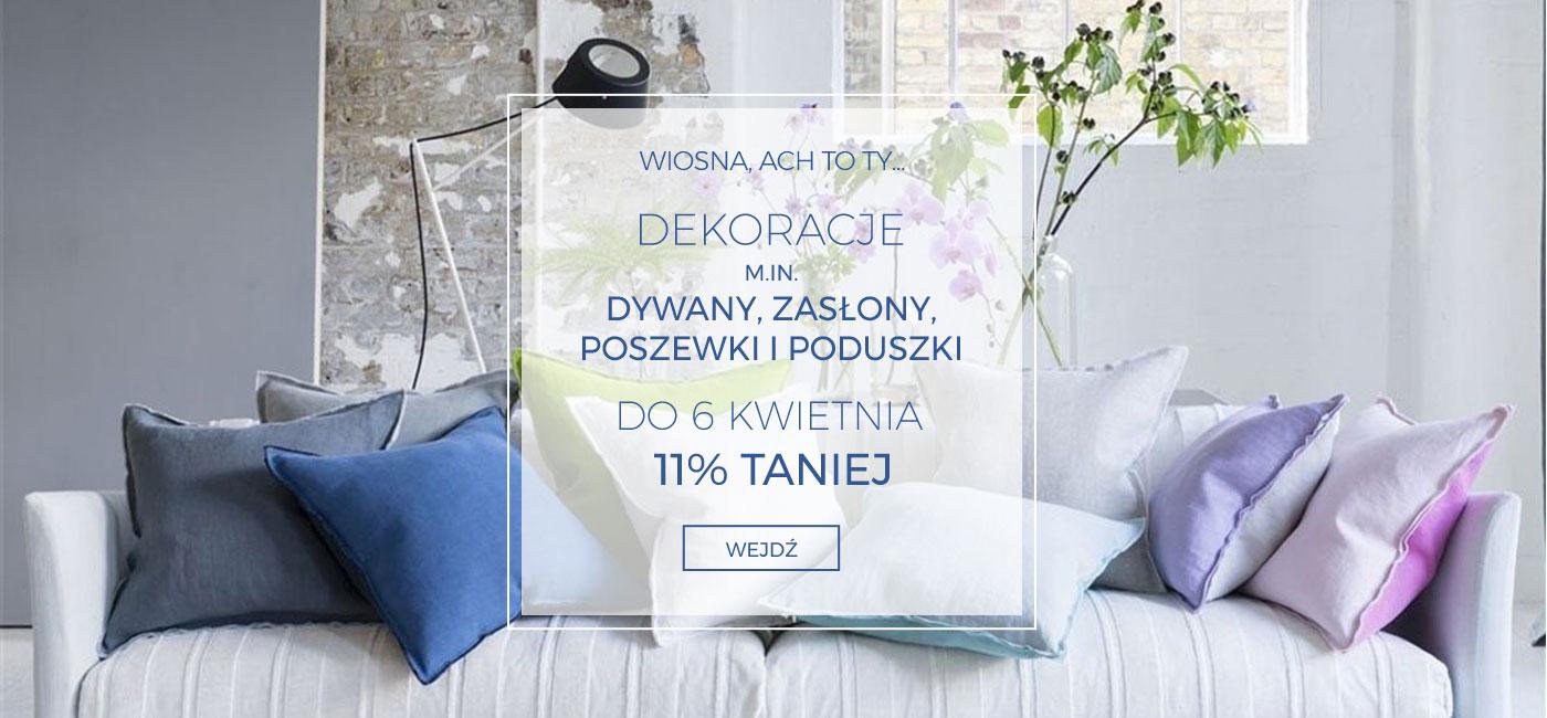 Pod Pierzyną: 11% rabatu na dywany, zasłony, poszewki i poduszki