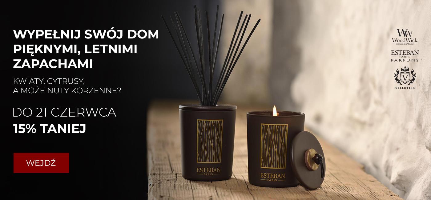 Pod Pierzyną: 15% rabatu na świece zapachowe Esteban Paris