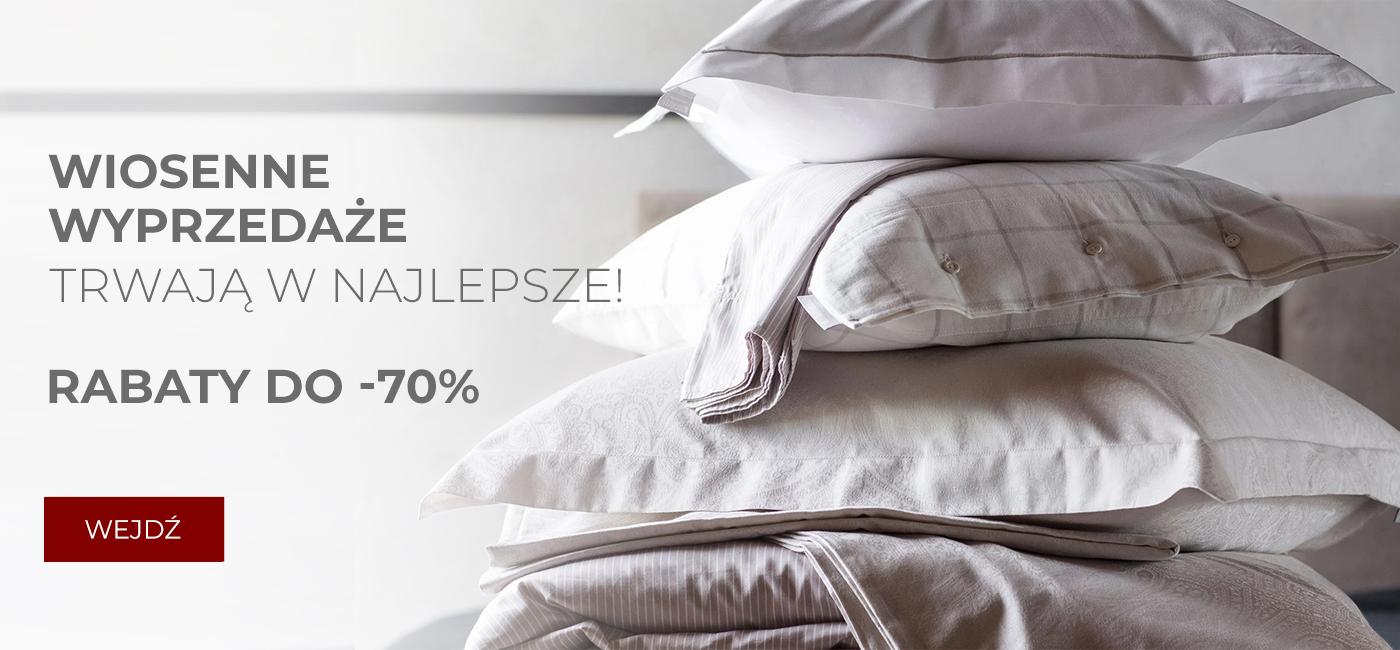 Pod Pierzyną: wyprzedaż do 70% zniżki na tekstylia i dodatki do domu - Wiosenne Wyprzedaże