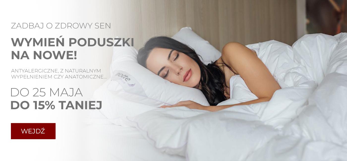 Pod Pierzyną: do 15% zniżki na poduszki antyalergiczne, z naturalnym wypełnieniem, anatomiczne