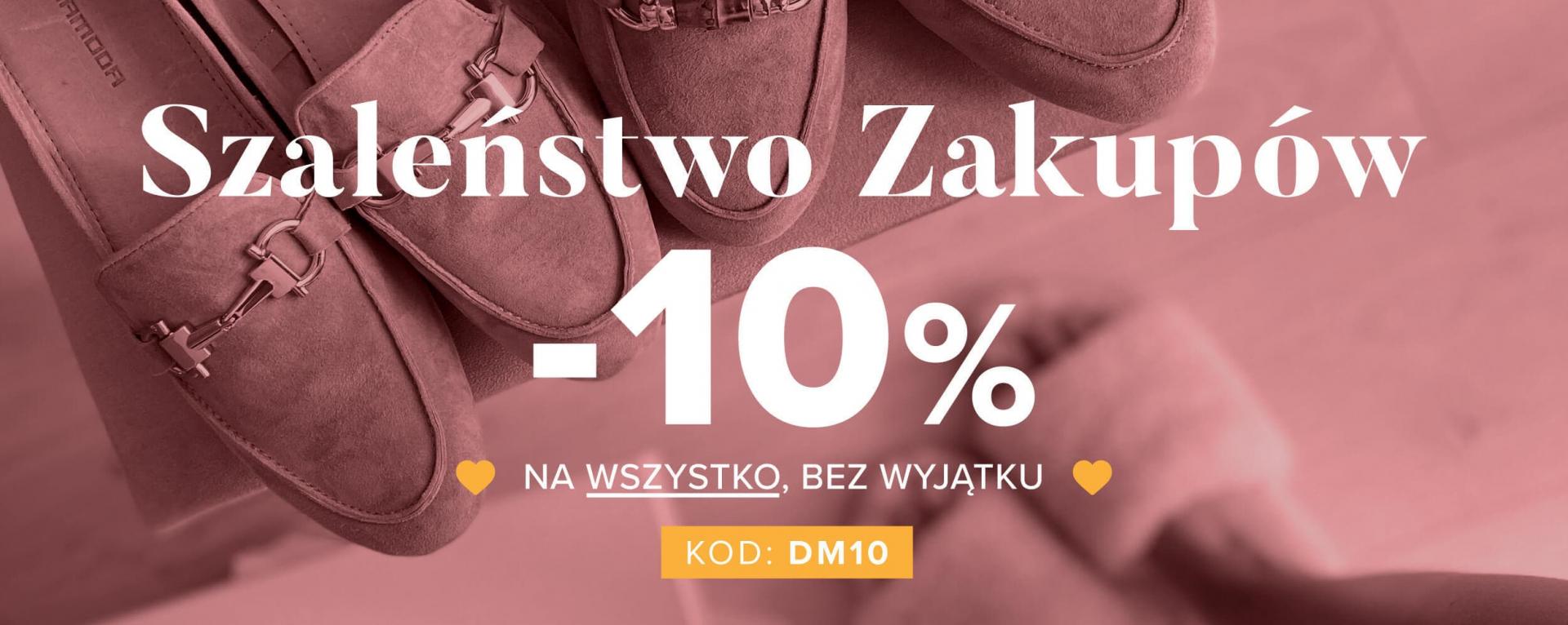 Primamoda: 10% zniżki na cały asortyment obuwia damskiego i męskiego, torebek oraz galanterii skórzanej