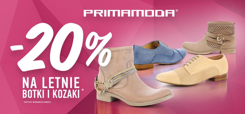 Primamoda: 20% zniżki na obuwie letnie