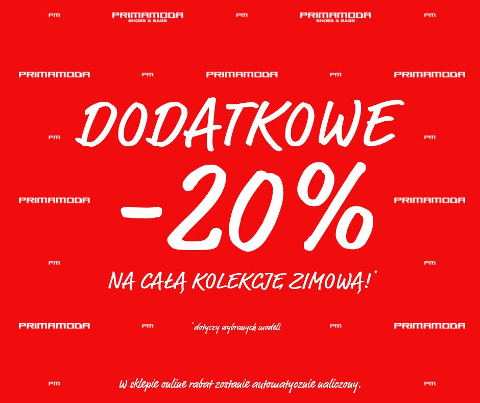 Primamoda: dodatkowe 20% na całą kolekcję zimową