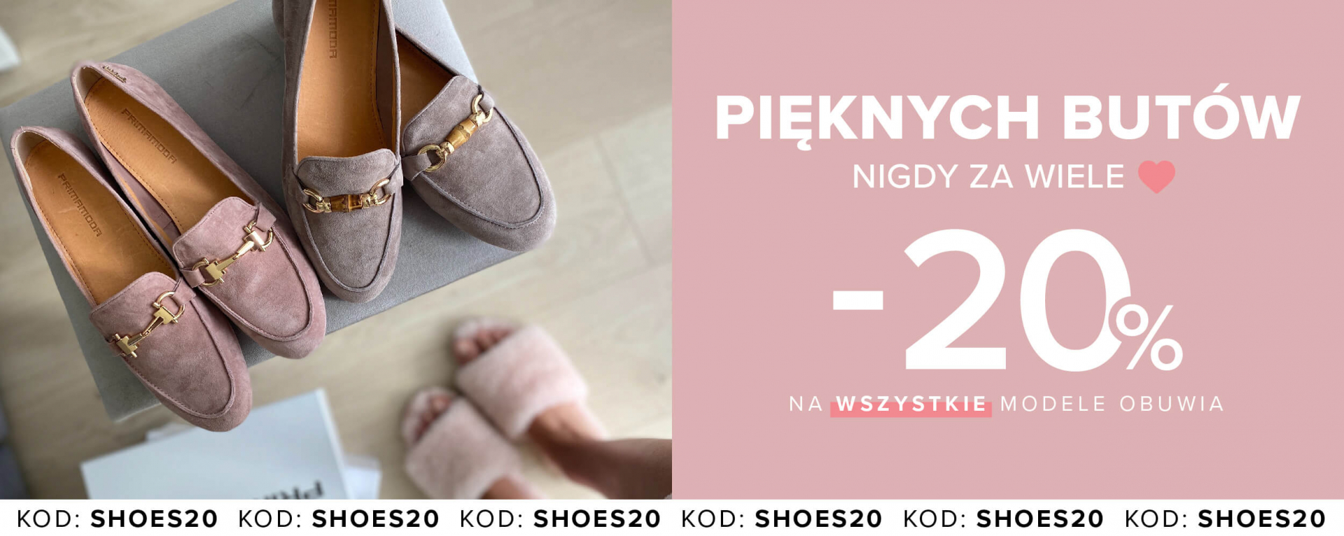 Primamoda: 20% zniżki na wszystkie modele obuwia damskiego i męskiego