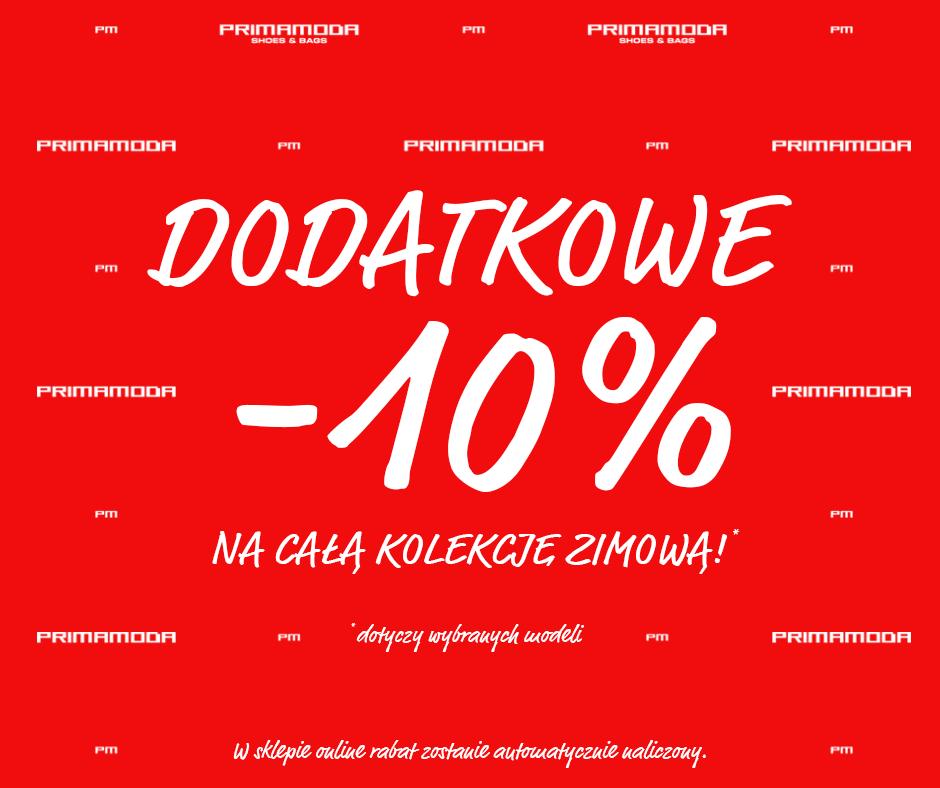 Primamoda: dodatkowe 10% zniżki na wyprzedaże