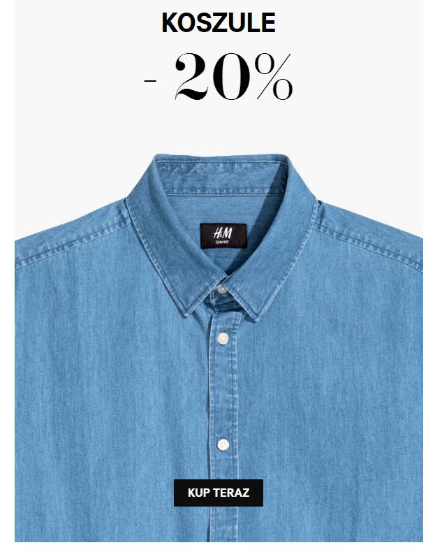 H&M: 20% zniżki na koszule