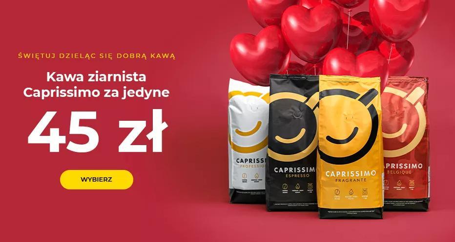 Przyjaciele Kawy: kawa ziarnista Caprissimo za jedyne 45 zł