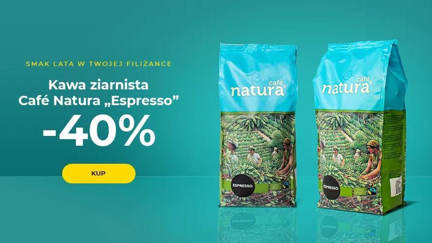 Przyjaciele Kawy: 40% zniżki na kawę ziarnistą Cafe Natura Espresso