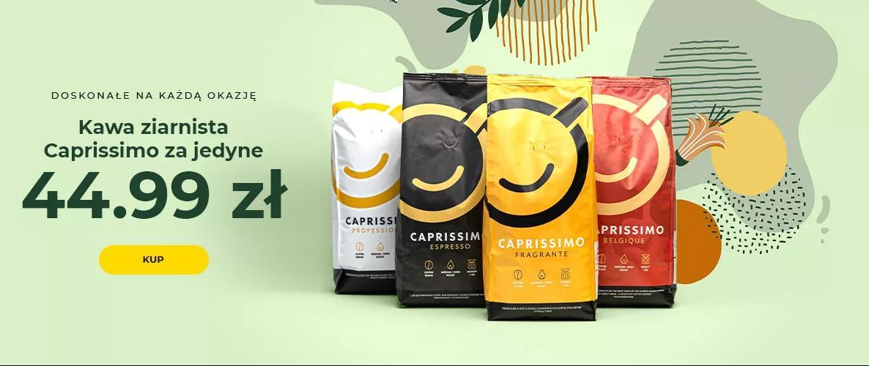 Przyjaciele Kawy: kawa ziarnista Caprissimo za jedyne 44,99 zł