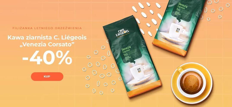 Przyjaciele Kawy: 40% zniżki na kawę ziarnistą C. Liegeois Venezia Corsato