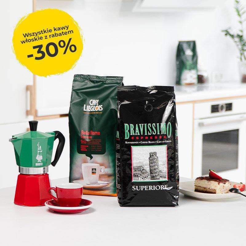 Przyjaciele Kawy: 30% zniżki na włoską kawę ziarnistą