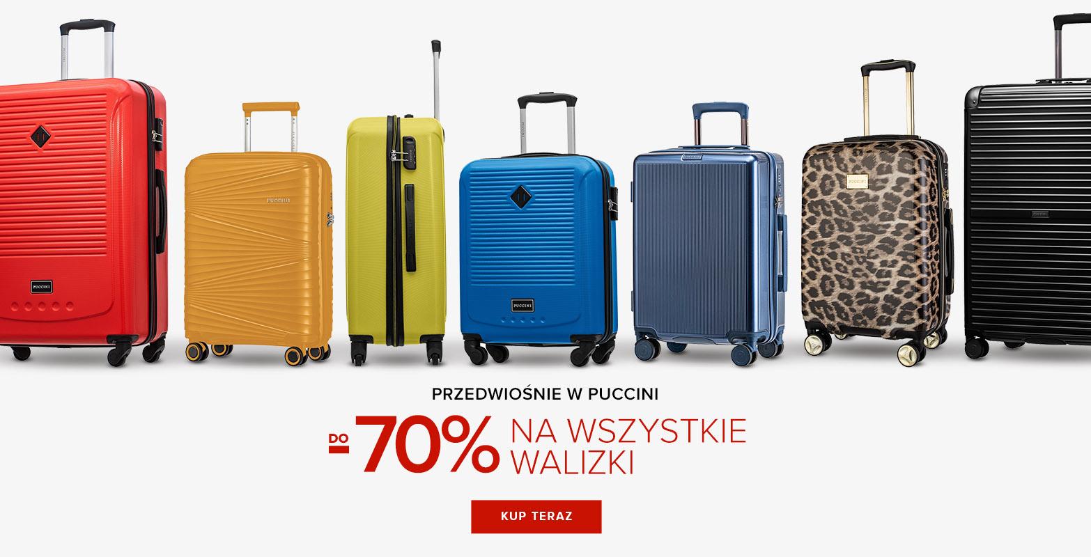 Puccini: do 70% zniżki na wszystkie walizki podróżne na kółkach