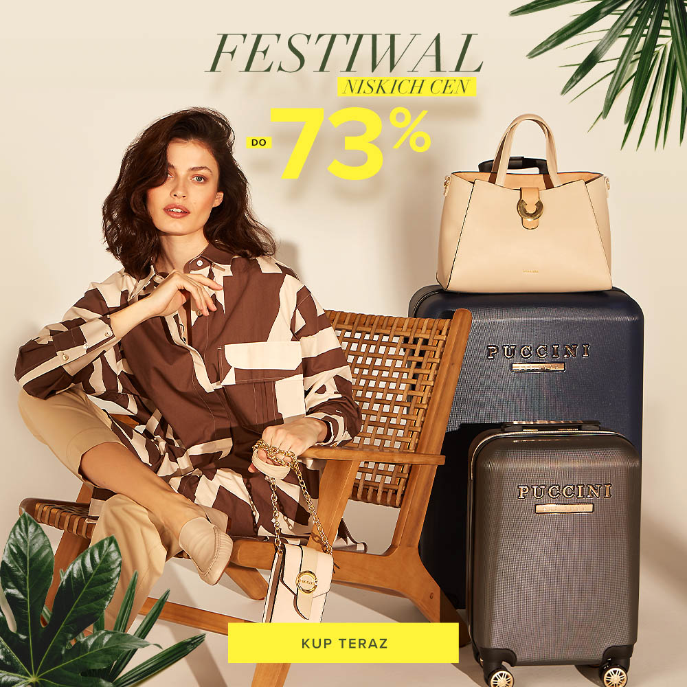 Puccini Puccini: do 73% zniżki na torebki, plecaki, portfele, walizki, paski, etui, plecaki - Festiwal Niskich Cen